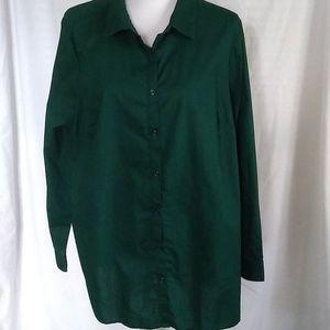 Roaman's The Kate Green Button Down Shirt